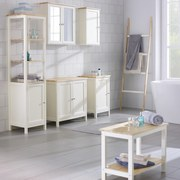 Regál Do Koupelny Jule - bílá/barvy smrku, Moderní, dřevo/dřevěný materiál (40/160/38cm) - MODERN LIVING