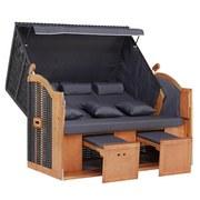 Plážové Sezení Valentina - šedá/žlutá, Moderní, dřevo/textil (155/163/79cm) - LUCA BESSONI