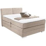 Boxspringbett Tina 140x200 - Beige, KONVENTIONELL, Textil (140/200cm)