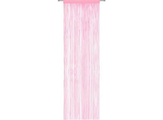 Nitkový Záves Victoria - ružová, textil (90/245cm) - Mömax modern living