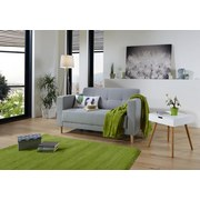 Zweisitzer-Sofa Geneve - Hellgrau/Naturfarben, MODERN, Textil (148/81/75cm)