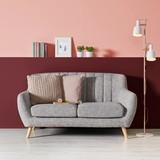 Pohovka Luna - sivá, Moderný, drevo/textil (156/64/79cm) - MODERN LIVING