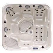 Whirlpool Venedig 4+1 Person - Dunkelgrau/Weiß, MODERN, Kunststoff (210/200/90cm)