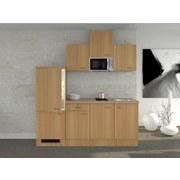 Küchenblock Nano 210 cm Buche - Buchefarben/Creme, MODERN, Holzwerkstoff (210/60cm) - FlexWell.ai