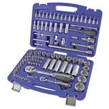 Steckschlüsselsatz 94-Teilig - Blau, MODERN, Kunststoff (38/9/28cm) - Erba