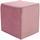 Taburetka Betty - ružová, Basics, textil (45/45/45cm)