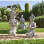 Hlava Budhy Buddha - hnedá, Konvenčný, kameň (14/10,5/26,5cm) - MÖMAX modern living