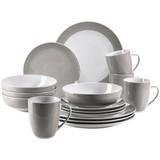 Kombiservice Kitchen Time II 16-Tlg. - Beige, Basics, Keramik (31,5/31,5/33,5cm)