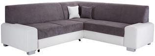 Sedací Souprava Miami - šedá/bílá, Basics, dřevo/textil (260/210cm) - Ombra
