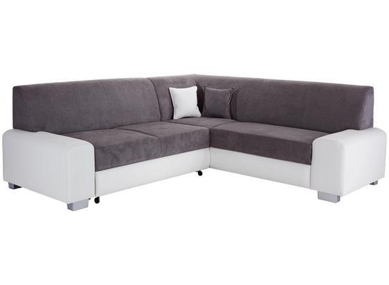 SEDACIA SÚPRAVA MIAMI - sivá/biela, Basics, drevo/textil (260/210cm) - Ombra