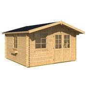 Gartenhaus mit Satteldach Natur 360x245x360cm Blockhaus Aktion - Naturfarben, MODERN, Holz (360/245/360cm)