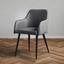 Stolička S Podrúčkami Andre - čierna/sivá, Moderný, kov/drevo (60/82,5/56cm) - Modern Living
