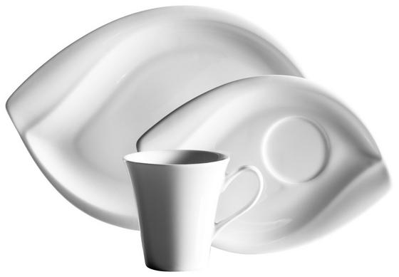 Kaffeeservice Leaf - Weiß, MODERN, Keramik (33/24,5/27cm)