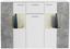 Sideboard Vulcan - Hellgrau/Weiß, MODERN, Glas/Holzwerkstoff (160/111/35cm)