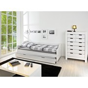 Bett inkl. Lattenrost + Bettlade 90x200 Leonie, Weiß - Weiß, Basics, Holz (90/200cm) - MID.YOU