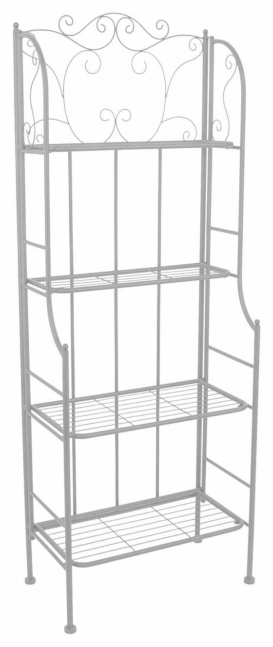 Regal Shelf - Weiß, MODERN, Metall (60/158/31,5cm)