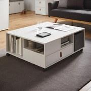 Konferenčný Stolík Mick - biela, Moderný, umelá hmota/drevo (88/35/74cm) - Modern Living