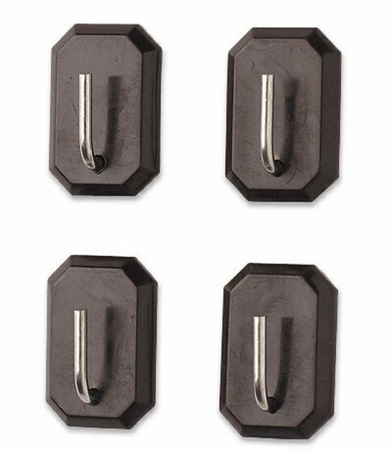 Selbstklebehaken Selbstklebend - Schwarz, KONVENTIONELL, Kunststoff (60x110mm) - HOMEWARE