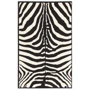 Webteppich Marty 60x110 cm - Schwarz/Weiß, KONVENTIONELL, Textil (60/110cm) - Ombra