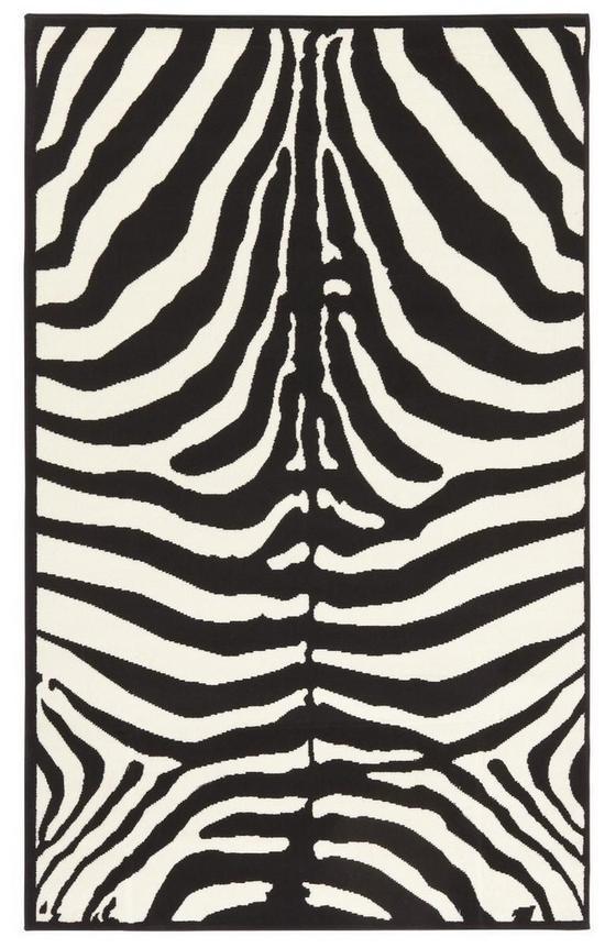 Webteppich Marty 60x110 cm - Schwarz/Weiß, KONVENTIONELL, Textil (60/110cm)