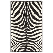 Webteppich Marty - Schwarz/Weiß, KONVENTIONELL, Textil (60/110cm)