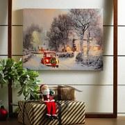 Leuchtbild Holy Christmas - Multicolor, Basics, Holz/Kunststoff (40/30cm)