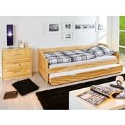 Bett Laura 2x 90x200 cm - Naturfarben/Kieferfarben, KONVENTIONELL, Holz (90/200cm) - Carryhome