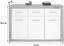 Sideboard Astor - Eichefarben/Weiß, LIFESTYLE, Holzwerkstoff (133/90,5/35cm)