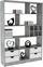 Regal Meggy - Weiß/Grau, MODERN, Holzwerkstoff (140/184/32cm)