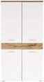Šatní Skříň Space New - bílá/barvy dubu, Moderní, kompozitní dřevo (100/199/35cm)