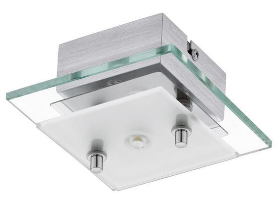 LED-Deckenleuchte Fres 2 - Chromfarben/Weiß, MODERN, Glas/Metall (12,5/12,5/6,5cm)