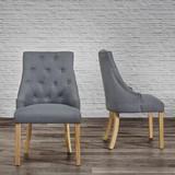 Stolička Mila - farby dubu/tmavosivá, Moderný, drevo/textil (56,5/93,5/63cm) - Modern Living