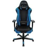 Gamingstuhl Dxracer Racing E4 Schwarz/blau - Blau/Schwarz, MODERN, Kunststoff/Textil (67/122-132/67cm) - Dxracer