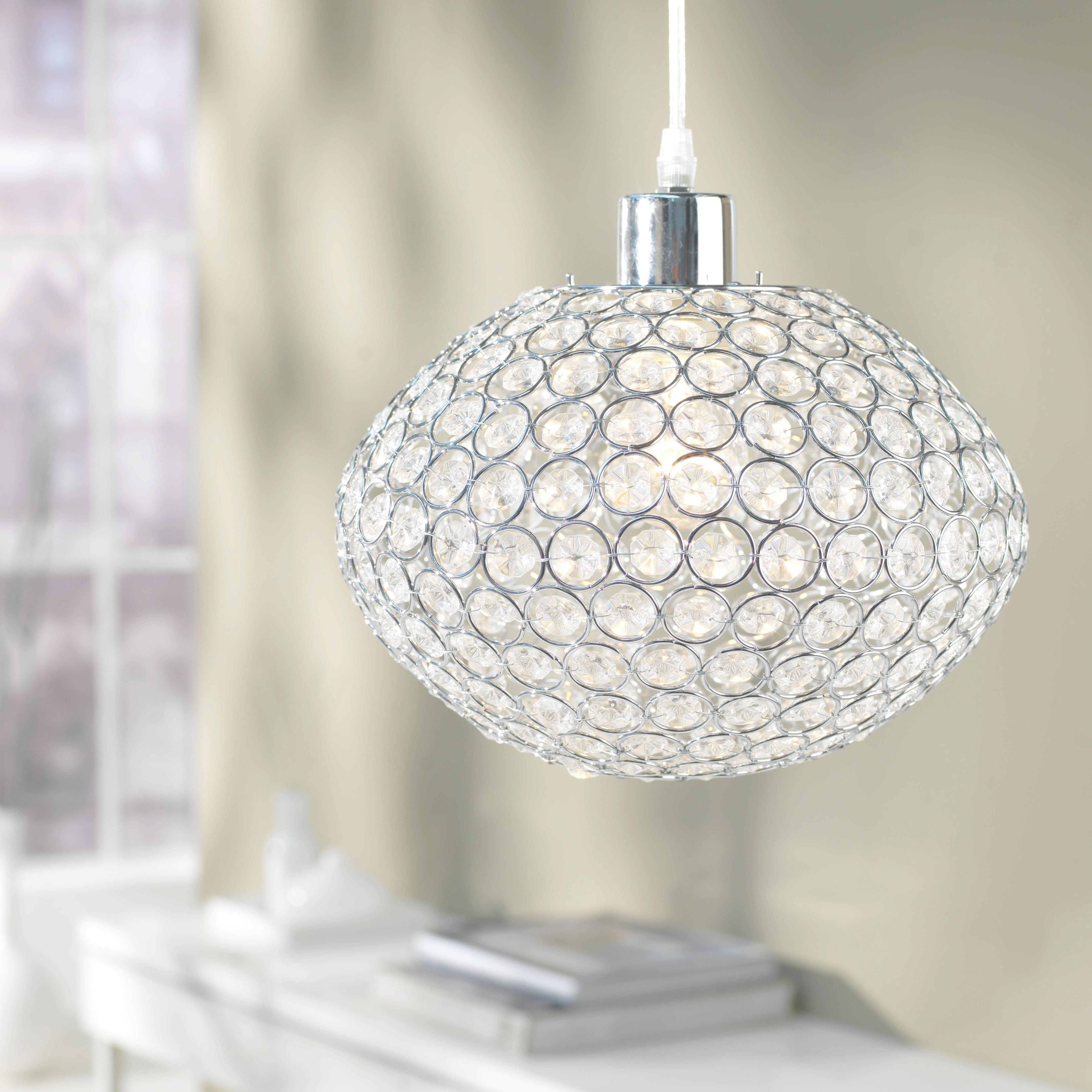Závesná Lampa Luca - farby chrómu, Moderný, umelá hmota/kov (23/120cm) - MÖMAX modern living