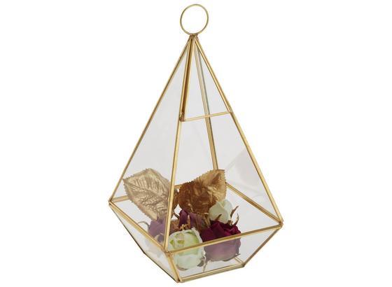 Box Dekorační Adriana - čiré/barvy zlata, kov/sklo (12/12/25cm) - Modern Living