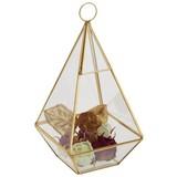 Dekoračná Krabica Adriana - zlatá/číre, kov/sklo (12/12/25cm) - Modern Living
