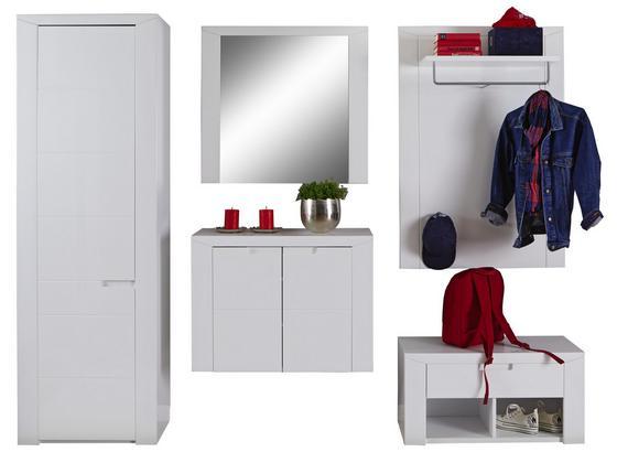 Garderobenkombination Bree 3 B:236cm Weiß Hochglanz - Weiß, MODERN, Karton/Holzwerkstoff (236/203/38cm)