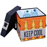 Faltbox Bier B: 37 cm Orange/Schwarz - Schwarz/Orange, Basics, Textil (37/36/37cm) - MID.YOU
