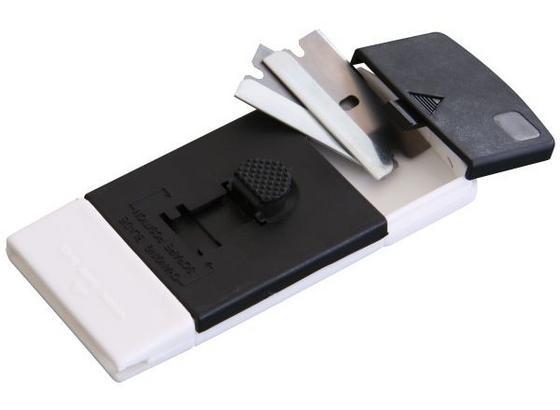 Škrabka Na Varnou Desku Moritz - bílá/černá, umělá hmota (10/4,5/1,5cm) - Homeware