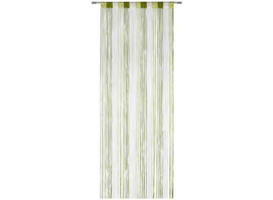 Nitkový Záves String - biela/zelená, textil (90/245cm) - Premium Living