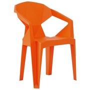 Armlehnstuhl Kunststoff Orange Pflegeleicht - Orange, Basics, Kunststoff (56/80/53,5cm)