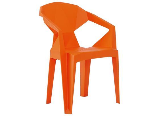 Stuhl B: ca. 56 cm Orange - Orange, Basics, Kunststoff (56/80/53,5cm)
