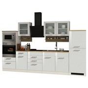 Küchenblock Mailand B: 330 cm Weiß - Weiß, Basics, Holzwerkstoff (330/200/60cm) - MID.YOU