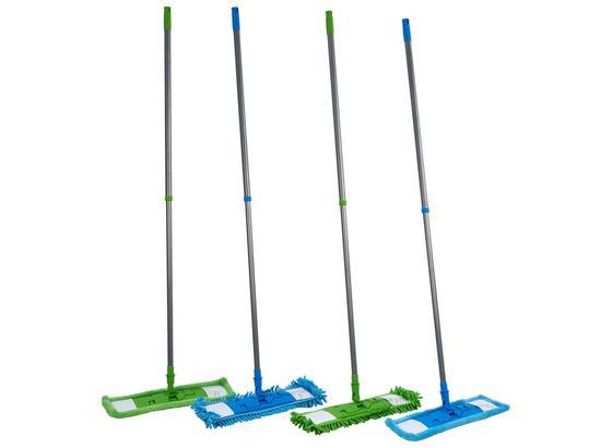 Felmosó Műanyag - Zöld/Kék, konvencionális, Műanyag/Textil (44/138cm)