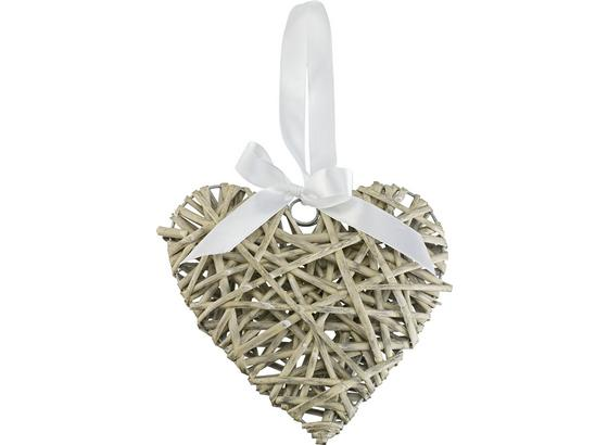 Ozdoba Dekorační Melanie - šedá, Romantický / Rustikální, dřevo/textil (30/5.5cm) - Mömax modern living