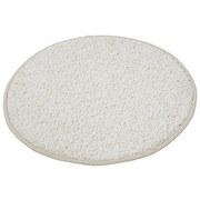 Hochflor Teppich Weiß Sphinx Rund Ø 67 cm - Weiß, KONVENTIONELL, Textil (67cm) - Luca Bessoni