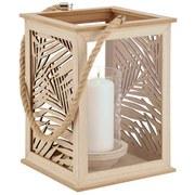 Laterne aus Holz - Naturfarben, MODERN, Holz (18/18/25,5cm)