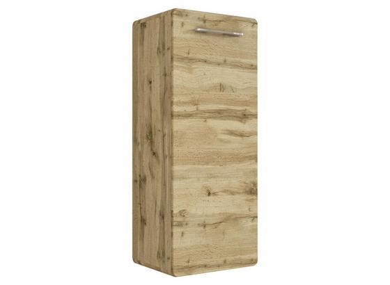 Midischrank Faro B: 40 cm Eiche Dekor - Eichefarben, Basics, Glas/Holzwerkstoff (40/103/35cm) - Livetastic