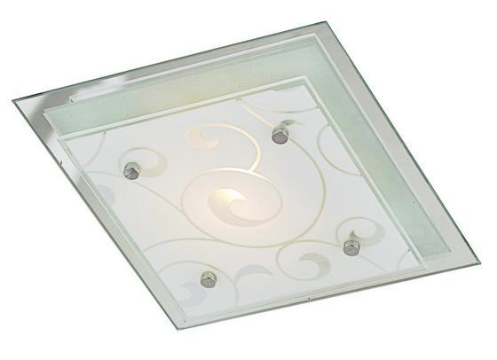 Deckenleuchte Susanne - Weiß, KONVENTIONELL, Glas/Metall (24/24cm) - Ombra
