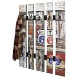 Wandgarderobe Timber 65 cm Vintageoptik - Multicolor, KONVENTIONELL, Holzwerkstoff (65/100/9cm)